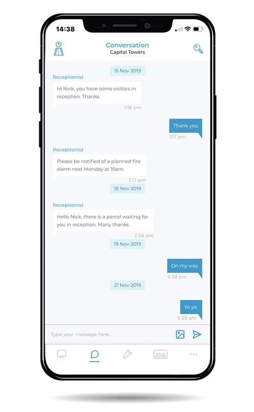 mobile reception chat